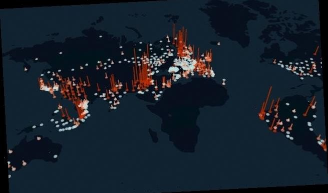 Pressure map shows coronavirus stress on internet infrastructure