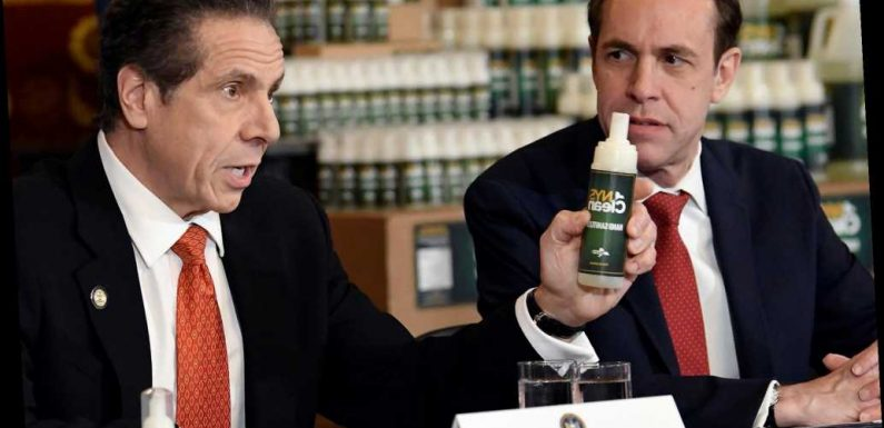 Coronavirus in NY: Cuomo unveils state's hand sanitizer made by prisoners