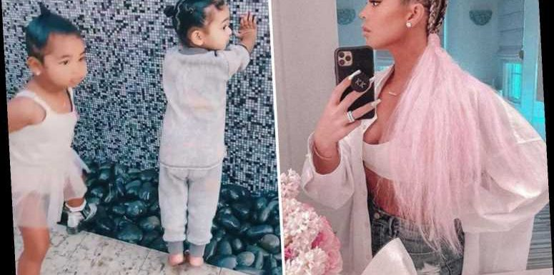 Khloe Kardashian reveals dramatic new hairstyle in cute video of daughter True playing with her sister Kim's children – The Sun