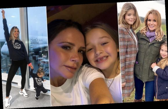 Celebrity mums and daughters and their matching outfits: from Victoria Beckham to Amanda Holden