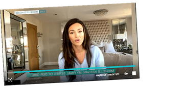 Michelle Keegan appears live from her and Mark Wright's bedroom on This Morning in coronavirus isolation with her dogs – The Sun