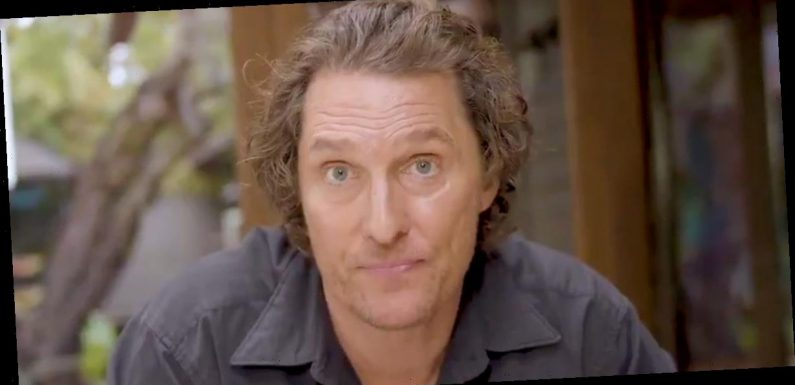 Matthew McConaughey shares a video message with fans about the coronavirus and economic recession