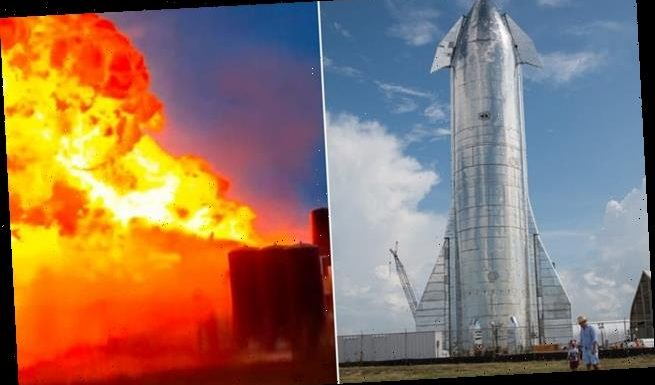 SpaceX's fourth Starship rocket prototype EXPLODES during testing
