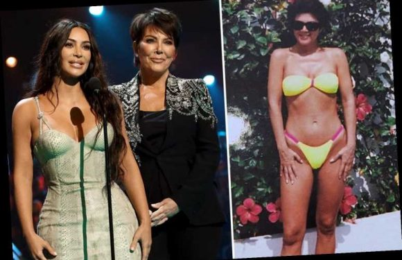 Kim Kardashian shares sexy throwback photo of mom Kris Jenner in a barely there bikini for early Mother's Day post – The Sun