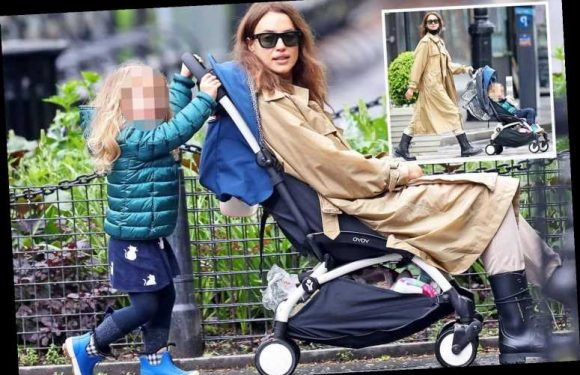 Irina Shayk takes it easy as daughter Lea pushes her around New York City in a pushchair – The Sun