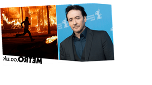 John Cusack 'attacked by Chicago police' as he films burning car during riots