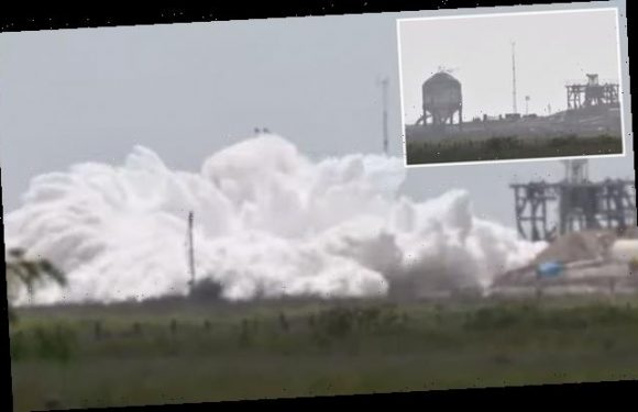 SpaceX Starship tank prototype EXPLODES into a cloud of nitrogen