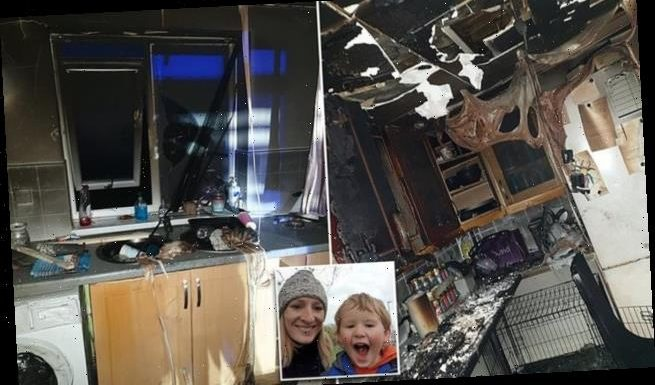 Mother flees home after new Candy tumble dryer burst into flames