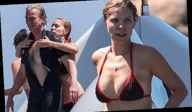 Victoria Swarovski and Werner Murz on luxury yacht in Ibiza