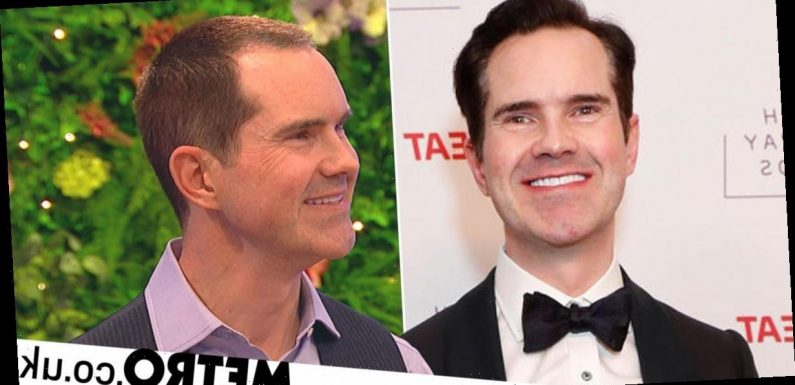 Jimmy Carr shows off amazing new look after hair transplant