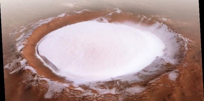 Mars crater key to human colonisation in space captured in never-before-seen video – WATCH