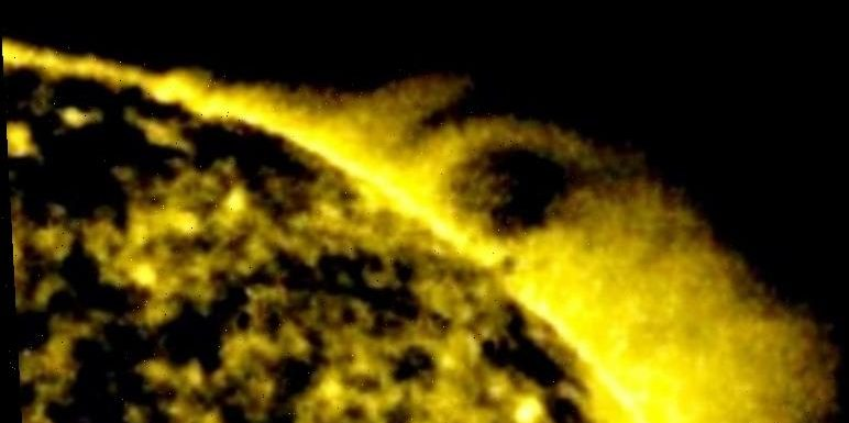 NASA UFO sighting: Alien ship 25 TIMES size of Earth spotted near the Sun