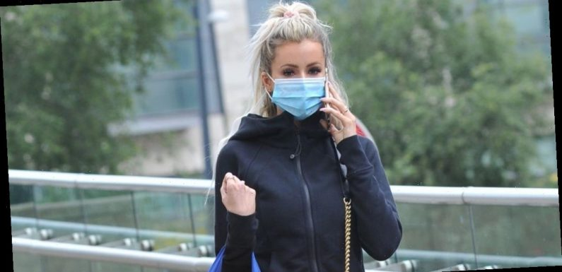 Olivia Attwood puts safety first as she wears face mask after splashing the cash on designer goods
