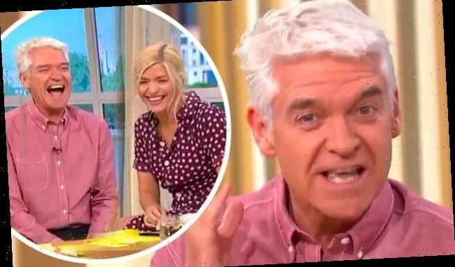 Phillip Schofield 'kicks off' seconds before  This Morning went live