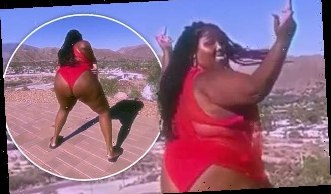 Lizzo twerks in VERY racy Instagram video as she slams landlord