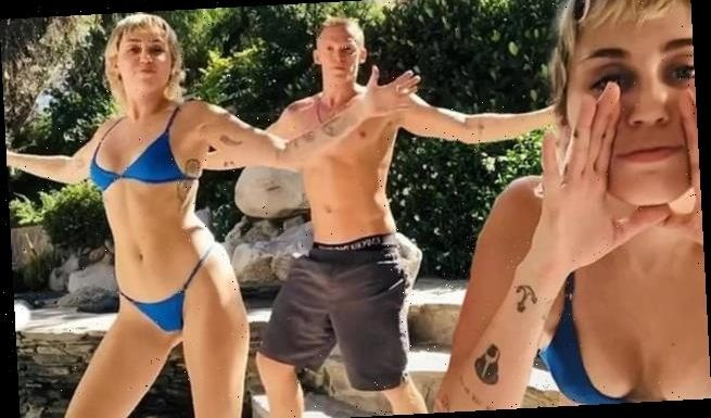Miley Cyrus shows off her dance moves with Cody Simpson
