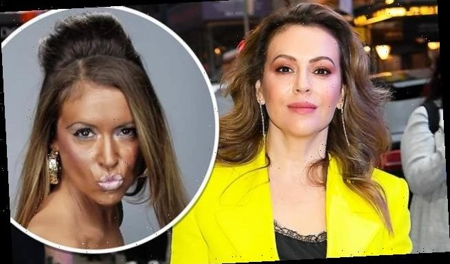 Alyssa Milano insists she was doing 'tanface'