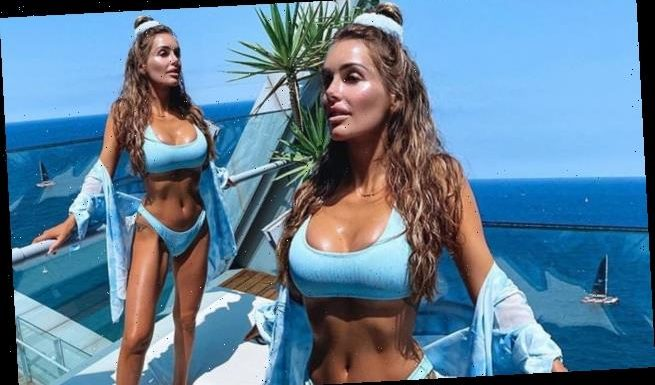 Laura Anderson sizzles in a blue bikini after revealing mugging hell