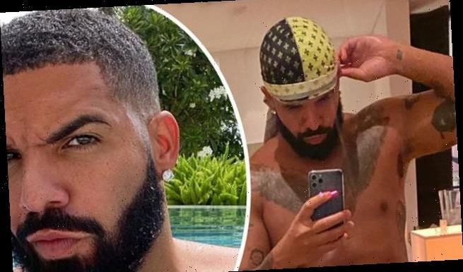Drake flashes six-pack in shirtless selfie as he vacations in Barbados