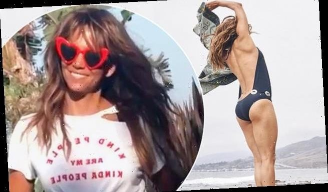 Halle Berry puts on cheeky display in sexy backless swimwear