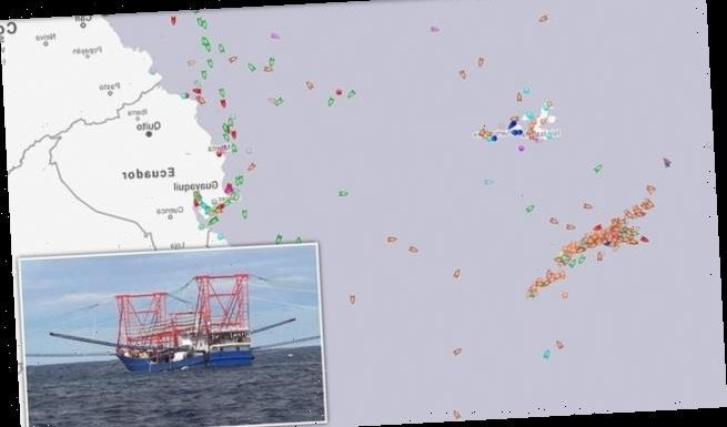260 Chinese fishing ships discovered off the Galapagos Islands