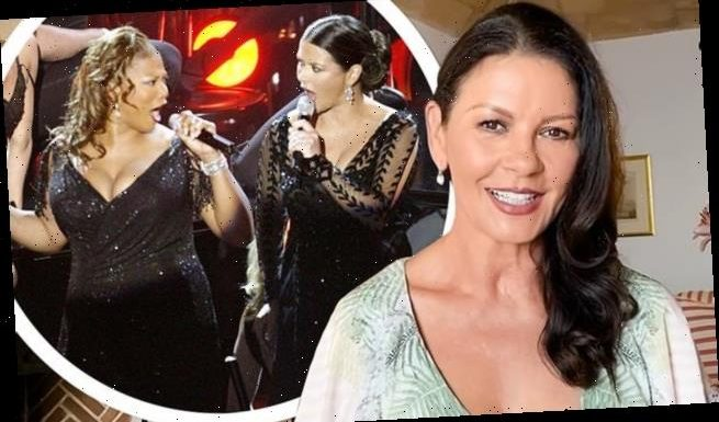 Catherine Zeta-Jones was 10 DAYS from her due date during 2003 Oscars