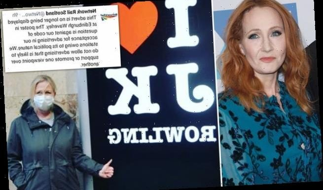 Network Rail removes JK Rowling poster from Edinburgh Waverley station