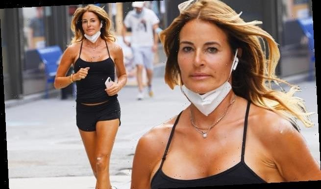 Kelly Bensimon, 52, shows off her stunning figure during jog in NYC