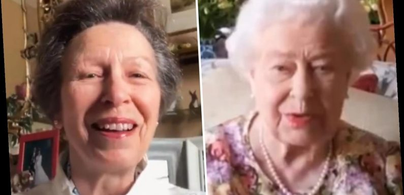 The Queen learns how to use Zoom after being shown the ropes by Princess Anne