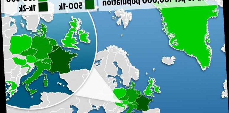 Map shows coronavirus rate in quarantine-free countries Brits can travel to on holiday from today