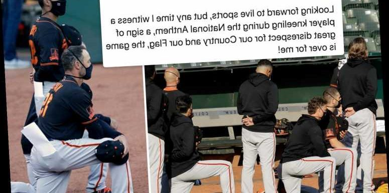Calls to BOYCOTT MLB as San Francisco Giants players kneel for anthem in BLM protest & Trump slams 'great disrespect' – The Sun