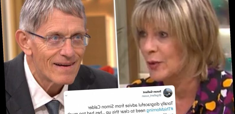 This Morning's travel expert slammed for 'encouraging viewers to break quarantine' as Ruth is forced to cut him off