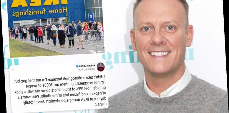 Coronation Street's Antony Cotton brands Ikea shoppers 'idiots' – despite driving there to shop himself
