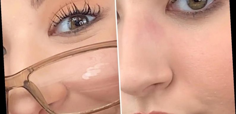 Makeup artist shares 'genius' hack to stop your glasses leaving marks on your makeup