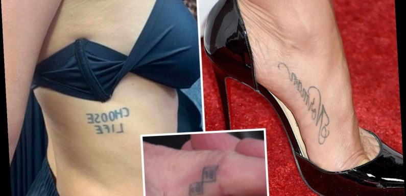These daring celebs all got tattoos later in life – can you guess the stars from their surprising inkings? – The Sun