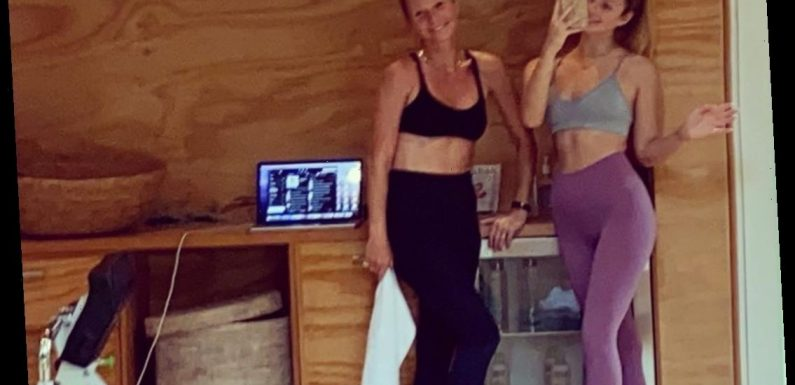 Gwyneth Paltrow and Daughter Apple, 16, Twin in Sports Bras and Leggings During Workout Session