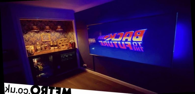 Film and TV prop man creates his own cinema at home with a minibar