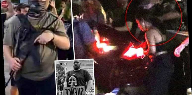 Moment BLM protester Garrett Foster approaches car with his AK-47 before being shot dead – as suspect is RELEASED