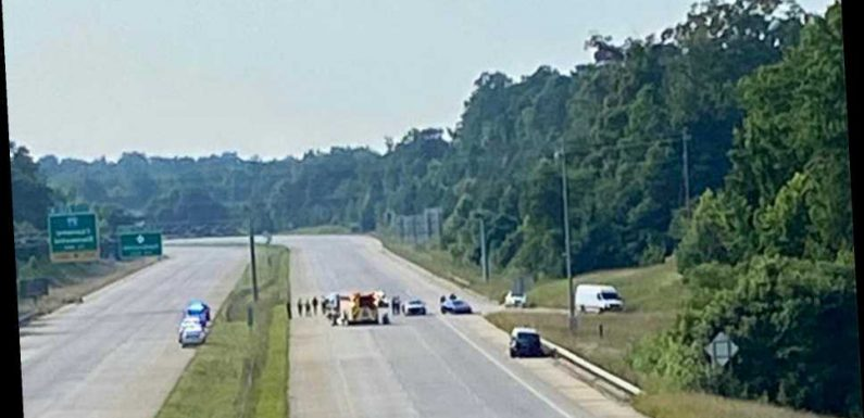 NC trooper injured after being hit by vehicle on Charlotte interstate