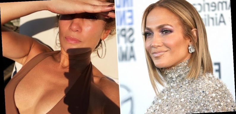 Jennifer Lopez's Halter One-Piece Is the Sexy Yet Supportive Suit of Our Dreams