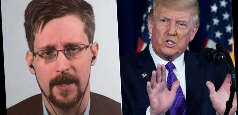 Trump 'very strongly' looking at pardoning whistleblower Edward Snowden