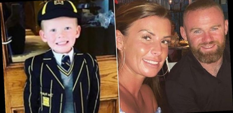 Coleen Rooney shares adorable photos of four year old son Kit trying on school uniform