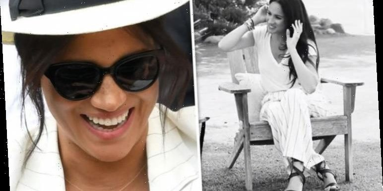 Meghan Markle wears suffragette white to discuss voting with activist Gloria Steinem