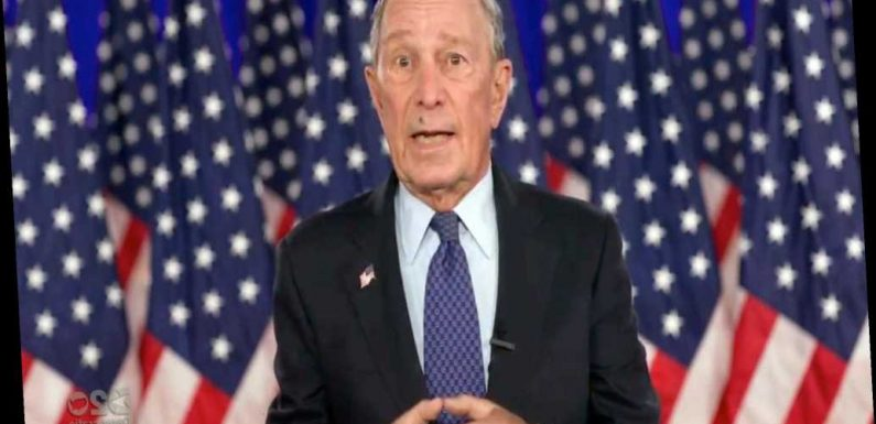 Fly repeatedly lands on Michael Bloomberg's face during DNC speech