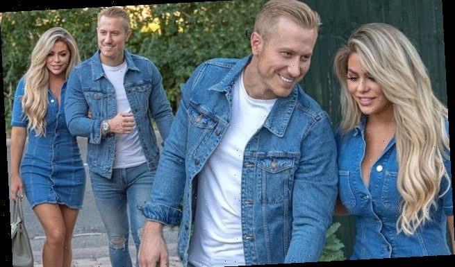 Kris Boyson and Bianca Gascoigne step out in coordinating denim looks