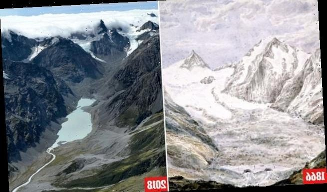 Glaciers in New Zealand's Southern Alps shrunk by 62% since 1600