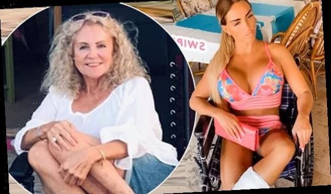 Katie Price's mother Amy helping her to be positive after accident