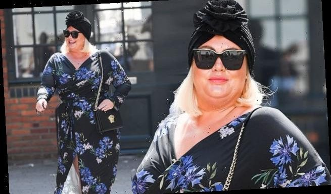 Turban-clad Gemma Collins flaunts her weight loss