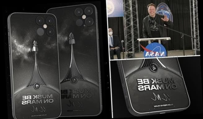 SpaceX-themed iPhone 12 with Elon Musk's signature costs about $6,000