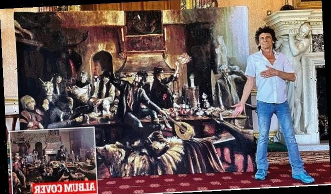 Ronnie Wood exhibits original artworks with profits going to the NHS